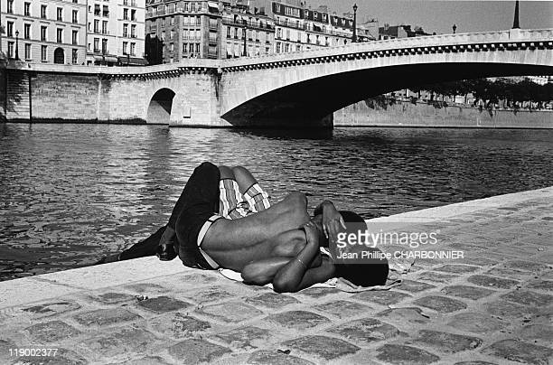 Lovers On The Quays Of The River Seine