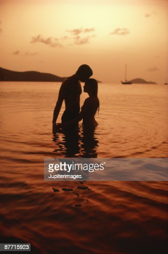 Loving couple at beach : Stock Photo