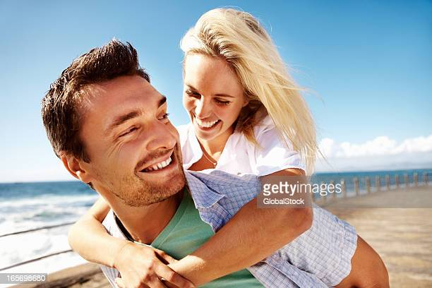 Loving couple enjoying the summer