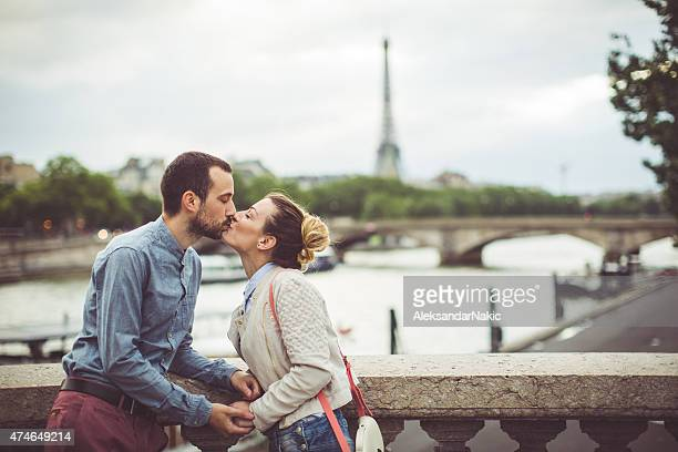 Loving couple in Paris