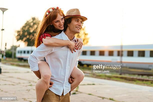 Loving couple living wondelust