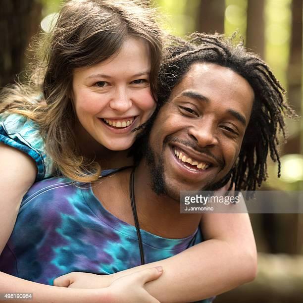 Loving couple divers