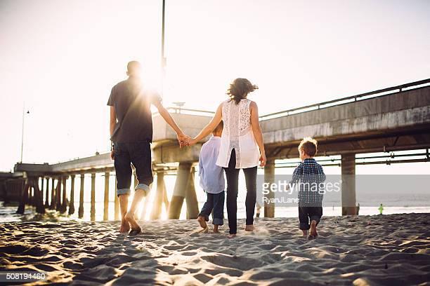 Loving Family at Venice Beach