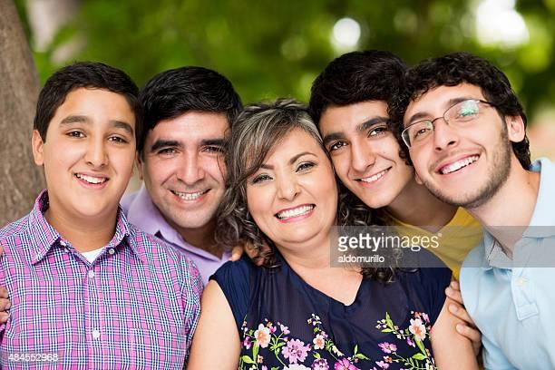 Loving happy family