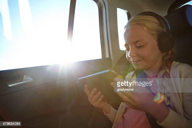 Loving her road trip app