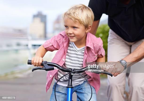Loving his first bike