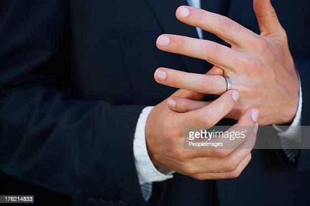 Loving his ring