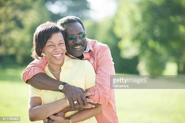 Liebevoll Altes Paar