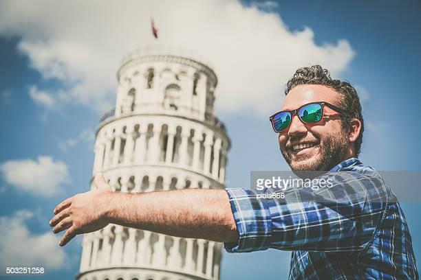 Liebevolle den Schiefen Turm von Pisa