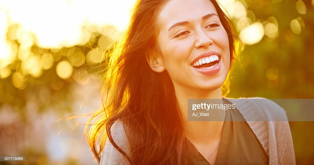 Loving the outdoors : Stock Photo