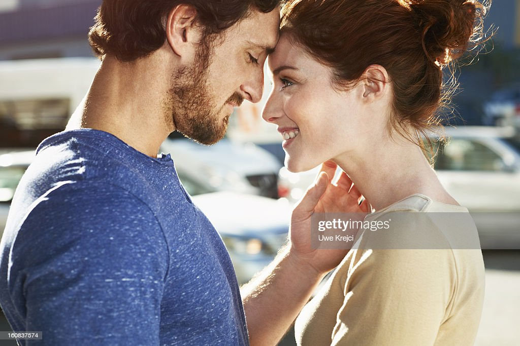 Loving young couple, close up : Stock Photo