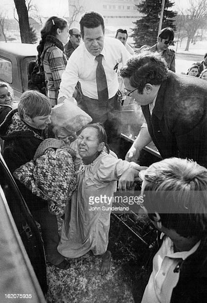 1141979 JAN 16 1979 JAN 19 1979 Lovingway United Pentecostal Church Ciria Gonzales weeps after her total immersion Baptism Rev Maurice Gordon