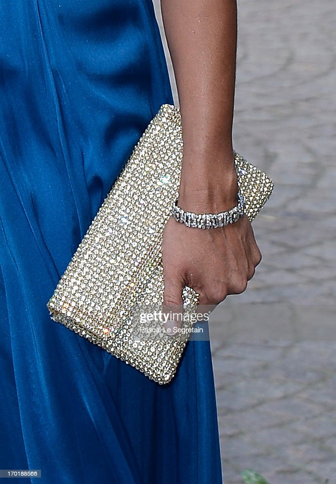 Lovisa de Geer (bag detail) attends the evening banquet after the wedding of Princess Madeleine of Sweden and Christopher O'Neill hosted by King Carl XIV Gustaf and Queen Silvia at Drottningholm Palace on June 8, 2013 in Stockholm, Sweden.