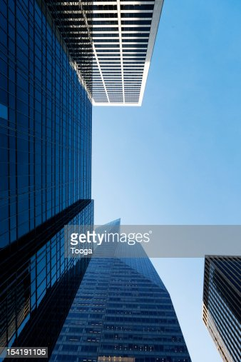 Low angle of city buildings : Stock Photo