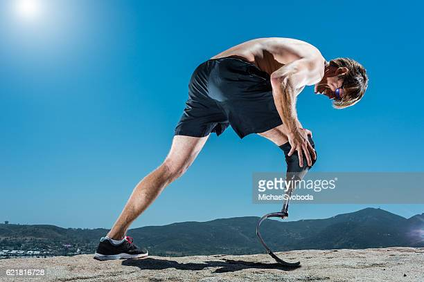 Low Angle Of Prosthetic Athlete In Pain