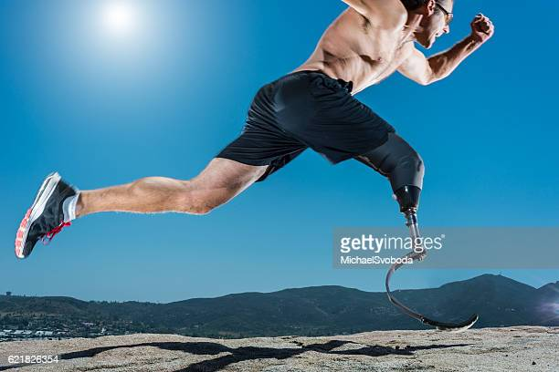 Low Angle Of Prosthetic Leg Running