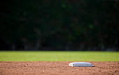 Second base and a dark outfield