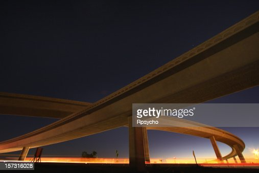 Low angle shot of a free day overpass