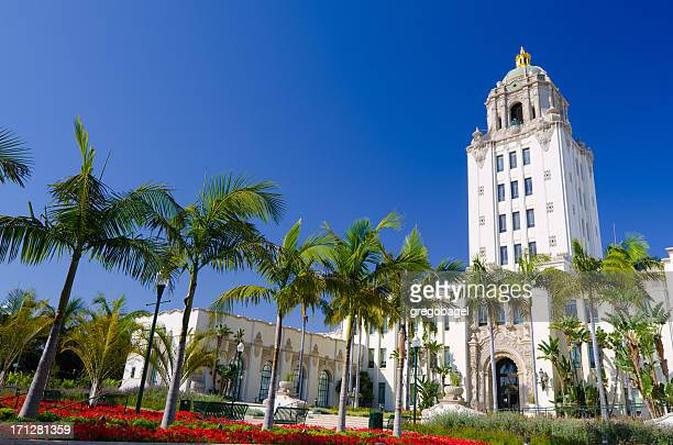 Low angle shot of City Hall in Beverly Hills, California