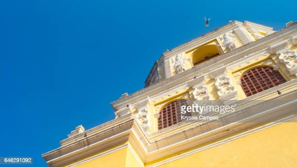 Low angle view at Colonial church of Nuestra Señora de la Merced, Antigua, Guatemala