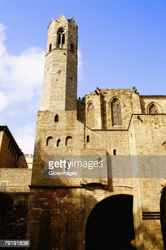 Low angle view of a building, Barcelona, Spain : Stock Photo