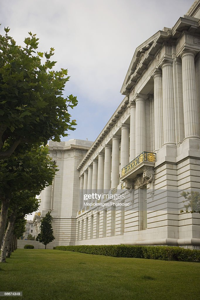 Low angle view of a building, City Hall, San Francisco, California, USA