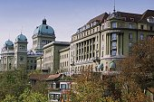 Low angle view of a building, Hotel Bellevue Palace, Berne, Berne Canton, Switzerland