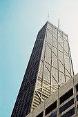 Low angle view of a building, John Hancock Building, Chicago, Illinois, USA