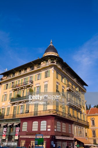 Low angle view of a building, Nice, France : Stock Photo