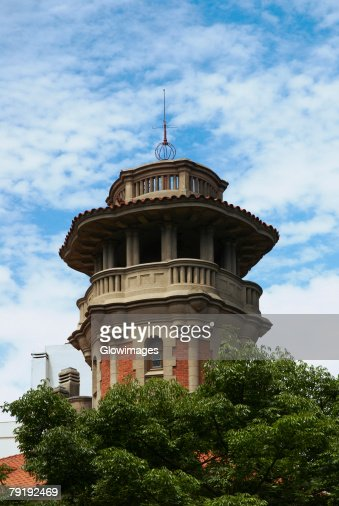 Low angle view of a building, Recoleta, Buenos Aires, Argentina : Foto de stock