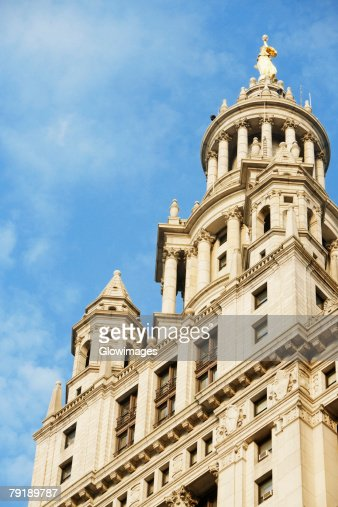 Low angle view of a building, Town Hall, New York City, New York State, USA : Foto de stock