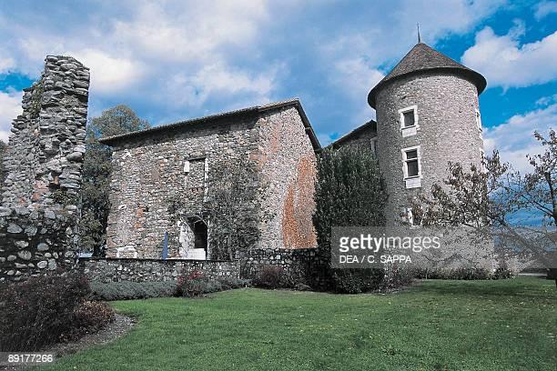 Low angle view of a castle Bayard Castle Pontcharra RhoneAlpes France