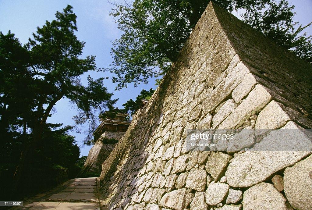 Low angle view of a castle, Matsuyama Castle, Shikoku, Japan