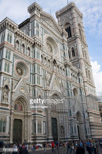 Low angle view of a cathedral, Duomo Santa Maria Del Fiore, Florence, Italy : Stock Photo