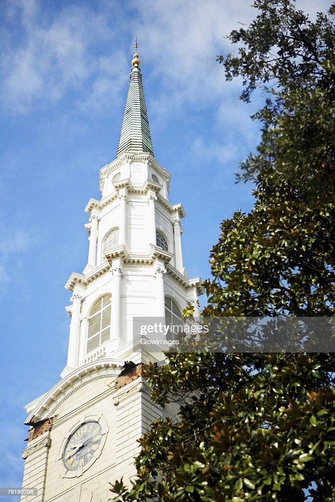 Low angle view of a church, Georgia, USA : Stock Photo