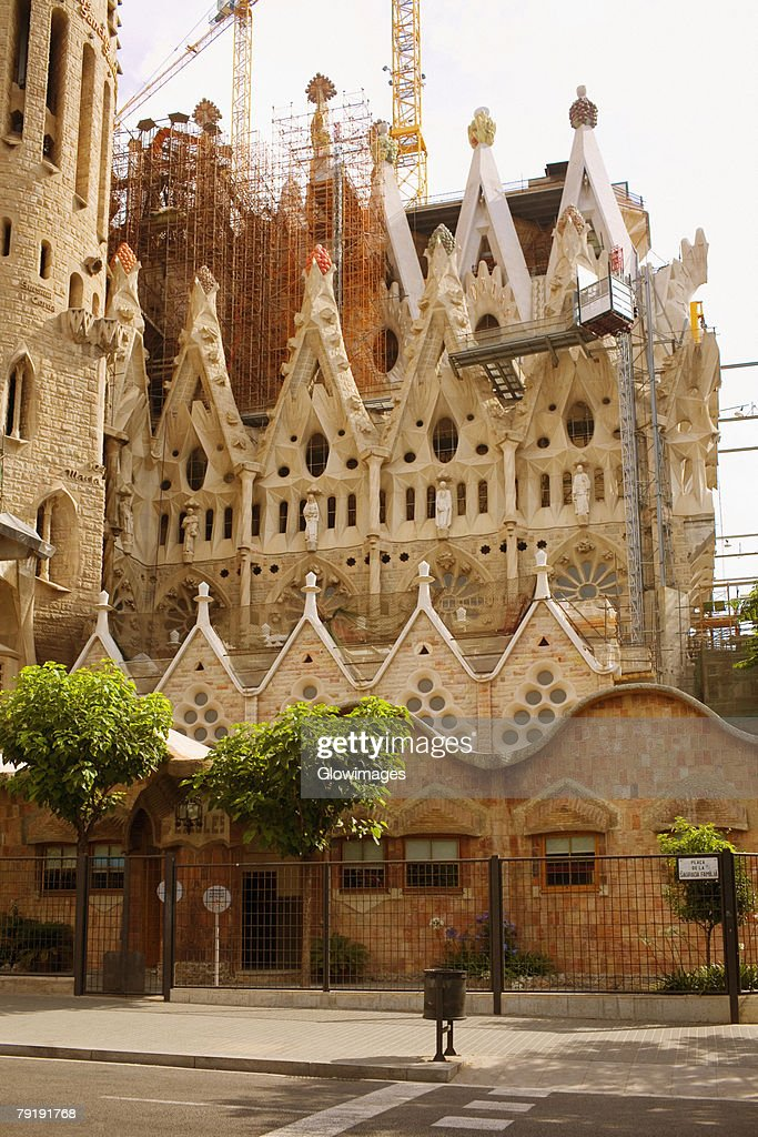 Low angle view of a church, Sagrada Familia, Barcelona, Spain : Foto de stock