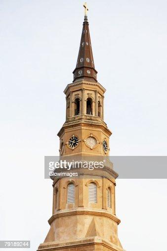 Low angle view of a church, St. Philip's Church, Charleston, South Carolina, USA : Stock Photo