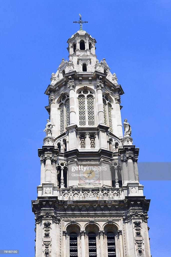 Low angle view of a clock tower, Paris, France : Foto de stock