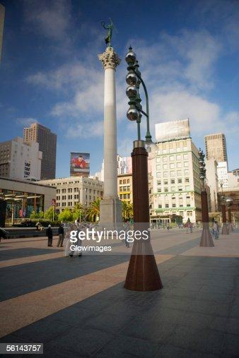 'Low angle view of a column, Union Square, San Francisco, California, USA'
