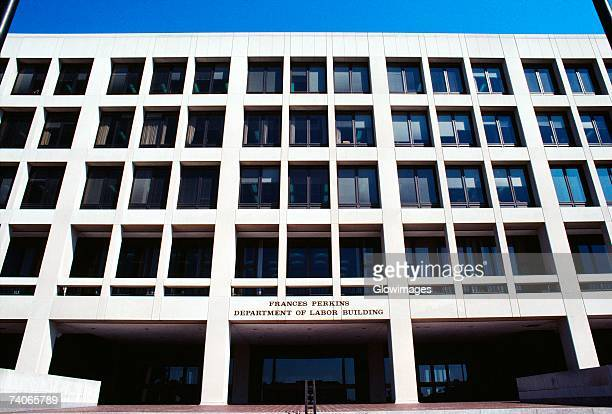 Low angle view of a government building, Department of Labor building, Washington DC, USA