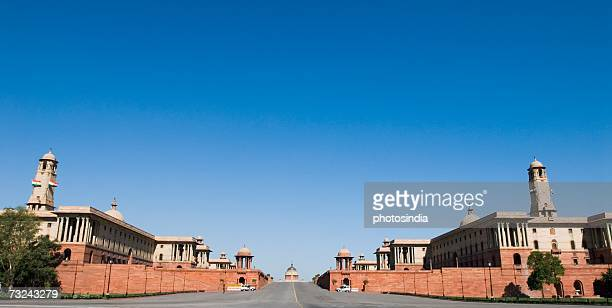 Low angle view of a government building, Rashtrapati Bhavan, New Delhi, India