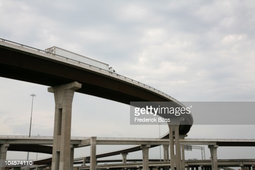 Low angle view of a highway overpass