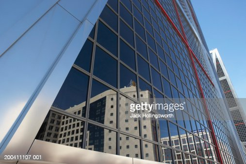 Low angle view of a modern commercial building : Stock Photo