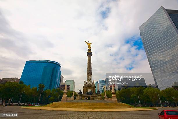 Low angle view of a monument, Independence Monument, Mexico City, Mexico