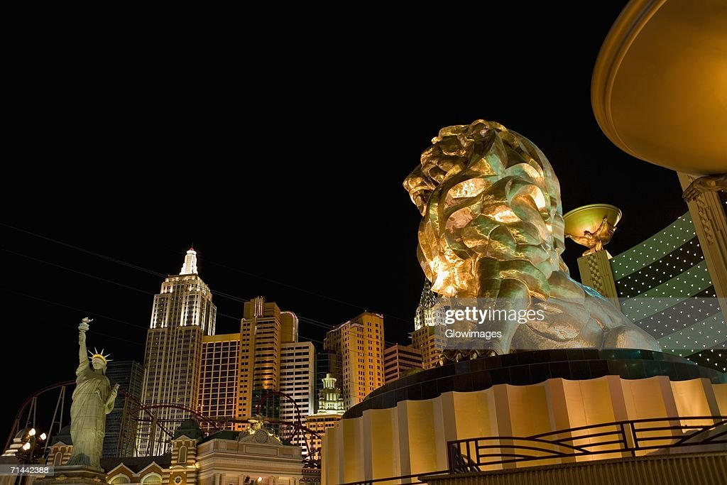 Low angle view of a sculpture, Las Vegas, Nevada, USA