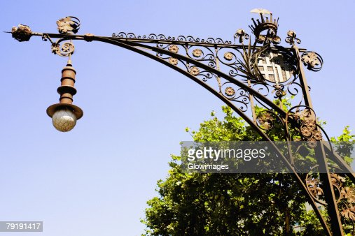 Low angle view of a street light, Barcelona, Spain : Stock Photo