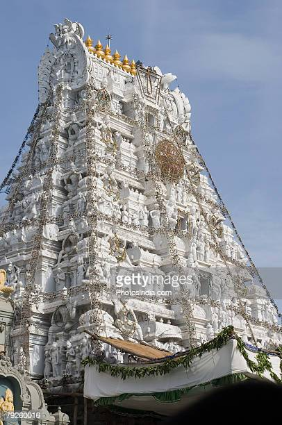 'Low angle view of a temple, Tirupati, Tirumala Venkateswara Temple, Tirumala, Andhra Pradesh, India'