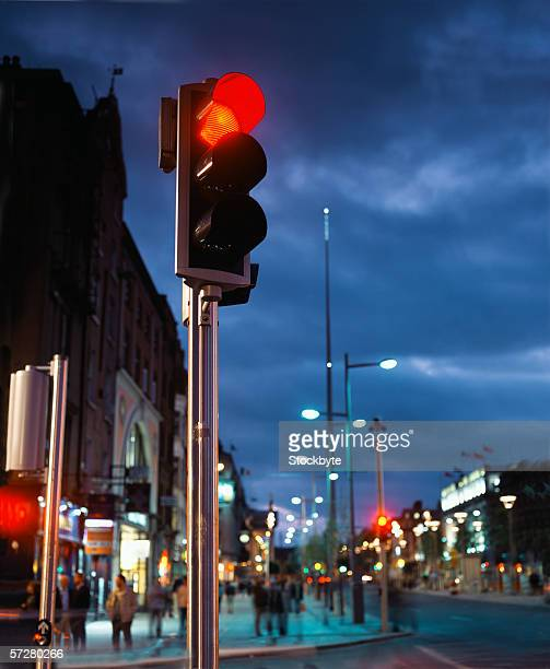 Low angle view of a traffic signal in Dublin, Ireland