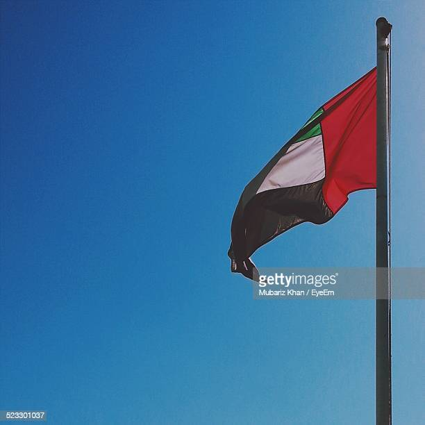 Low Angle View Of A United Arab Emirates Flag