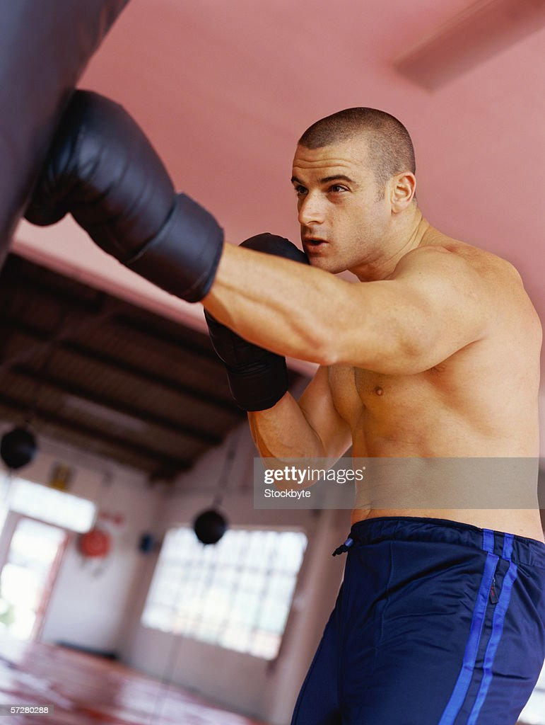 Low angle view of a young man practicing : Stock Photo